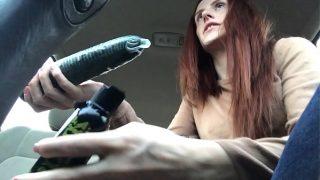 Squirten in de auto