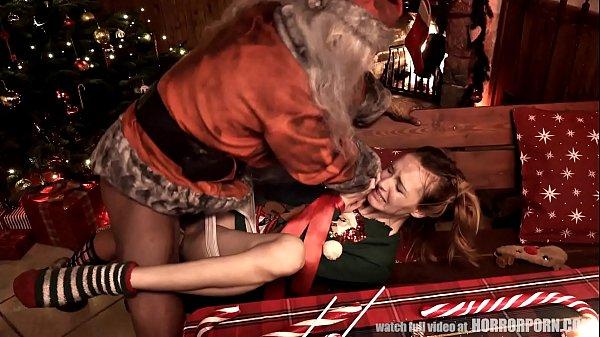Anale seks met de vrouw van de kerstman